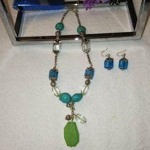 Vintage Avon 💙 Turquoise & Seaglass 🐚Set